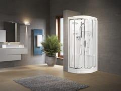 Box doccia semicircolare con idromassaggio con porta scorrevoleNEW HOLIDAY R90 - NOVELLINI