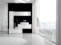 - Lacquered single vanity unit NEW STYLE - COMPOSITION 1 - Arcom