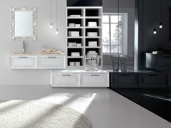 - Lacquered vanity unit NEW STYLE - COMPOSITION 7 - Arcom