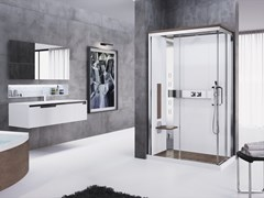 Box doccia multifunzione con porta scorrevoleNEXIS A 100X80 - NOVELLINI