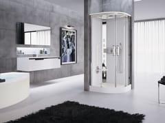 Box doccia multifunzione semicircolare con porta scorrevoleNEXIS R90 - NOVELLINI
