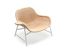 - Woven wicker armchair NEXT 27B - Gervasoni