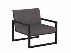 - Cantilever upholstered Batyline® garden armchair with armrests NINIX LOUNGE | Garden armchair with armrests - ROYAL BOTANIA