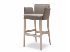 - Upholstered fabric counter stool with armrests NOB 227 - Origins 1971