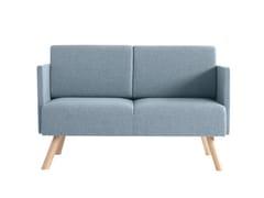 - 2 seater fabric sofa Nomad 826 - Metalmobil