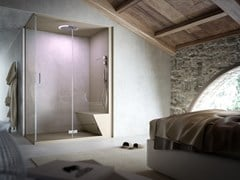 - 2 places corner steam shower cabin NONSOLODOCCIA | Corner shower cabin - Glass 1989