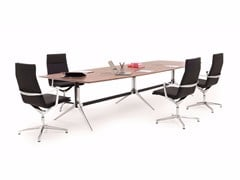 - Height-adjustable rectangular meeting table with cable management NOTABLE MEETING | Rectangular meeting table - ICF