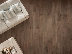 - Porcelain stoneware flooring with wood effect NOTE BROWN - CERAMICHE KEOPE