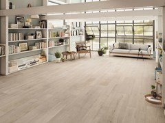 - Porcelain stoneware flooring with wood effect NOTE IVORY - CERAMICHE KEOPE