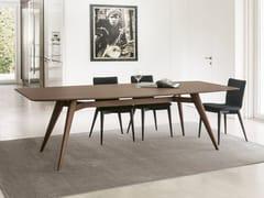 - Rectangular table NOVECENTO | Wood veneer table - Pacini & Cappellini