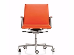 - Upholstered chair with 5-spoke base with casters NULITE | Chair with casters - Luxy