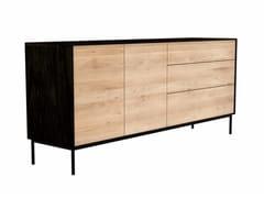 - Oak sideboard with doors with drawers OAK BLACKBIRD | Sideboard - Ethnicraft