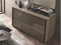 Cassettiera in rovere con maniglie integrateKROSS | Cassettiera in rovere - TOMASELLA IND. MOBILI