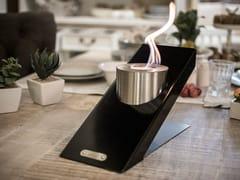 - Table-top bioethanol steel fireplace OBLIQUE TABLETOP SINGLE - GlammFire