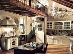 - Fitted wood kitchen OLD ENGLAND - COMPOSITION 02 - Marchi Cucine