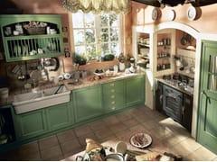 - Cucina componibile laccata OLD ENGLAND - COMPOSIZIONE 03 - Marchi Cucine