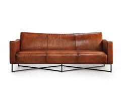 - 3 seater leather sofa ONDA | Leather sofa - Oliver B.