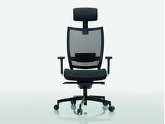 - Mesh task chair with 5-Spoke base OMBRA | Mesh task chair - Quadrifoglio Sistemi d'Arredo