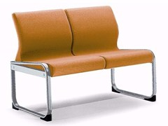 - Fabric bench seating with back ONE 402 S - TALIN