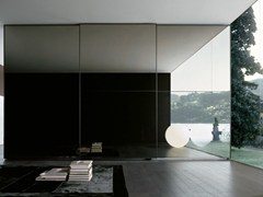 - Glass wardrobe with sliding doors ONE | Glass wardrobe - Poliform