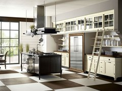 - Fitted wood kitchen OPERÀ - COMPOSITION 01 - Marchi Cucine