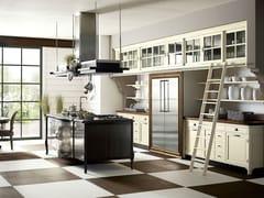 - Cucina componibile laccata con isola OPERÀ - COMPOSIZIONE 01 - Marchi Cucine