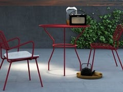 - Round metal garden table OPLÀ | Round table - Imperial Line
