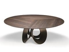 Tavolo da salotto rotondo in fibra di legnoORACLE | Tavolo in fibra di legno - ARKETIPO