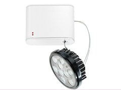 - Adjustable aluminium spotlight ORBIS | LED spotlight - Fabbian