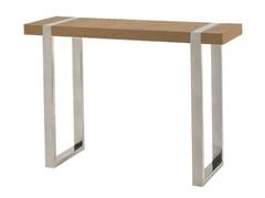 - Rectangular wood veneer console table ORCA | Wood veneer console table - Branco sobre Branco
