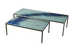 - Rectangular glass coffee table ORGANIC | Rectangular coffee table - Notre Monde