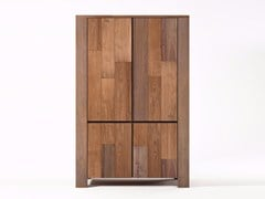 - Wooden highboard with doors ORGANIK OR22-TMH | Highboard - KARPENTER