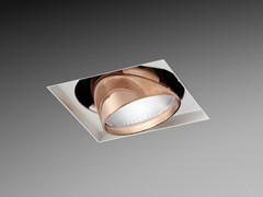 - LED Ceiling built-in powder coated aluminium light projector ORIENTE SQUARE - PURALUCE