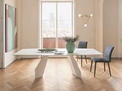 Tavolo rettangolare in ceramicaORIGAMI | Tavolo in ceramica - BONALDO