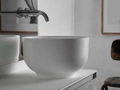 - Countertop round Ceramilux® washbasin ORIGIN | Countertop washbasin - INBANI