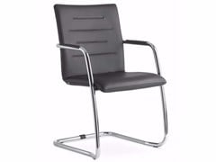 - Cantilever stackable chair with armrests OSLO 225-N4 - LD Seating