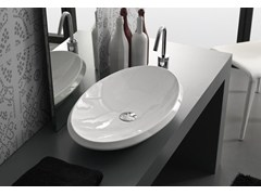 - Countertop oval ceramic washbasin OVAL - Hidra Ceramica