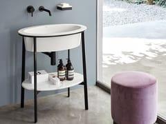 - Floor-standing single vanity unit CATINO OVALE - Ceramica Cielo