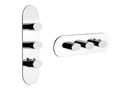 - 3 hole thermostatic shower mixer OVALE WELLNESS 43044 - Gessi