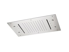 Soffione doccia in acciaio con 3 gettiSOFFIONI CON CROMOTERAPIA | Soffione doccia a soffitto - NEWFORM