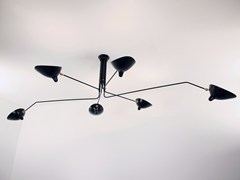- Adjustable metal ceiling lamp P6B | Ceiling lamp - Editions Serge Mouille