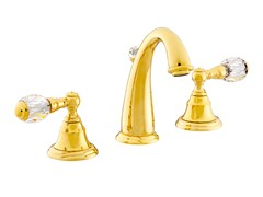 - 3 hole washbasin tap with Swarovski® crystals PACIFICA   3 hole washbasin tap - Bronces Mestre