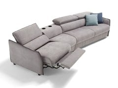 - Fabric sofa bed with headrest PAGANINI | Recliner sofa - Dienne Salotti