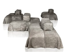 - Sectional leather sofa PANAMA - BAXTER