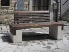 Panchina in legno con schienaleDANIA - MANUFATTI VISCIO