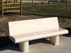 Panchina in pietra ricostruita con schienaleSAN MARCO - MANUFATTI VISCIO