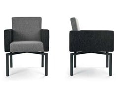 - Upholstered fabric easy chair with armrests PANTA REI METAL QUATTRO - Riccardo Rivoli Design