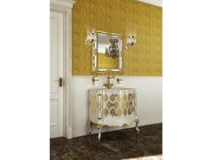 - Lacquered vanity unit with drawers with mirror PANTHEON CM01PH - LA BUSSOLA