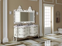 - Double vanity unit with drawers with mirror PANTHEON CM02PH - LA BUSSOLA