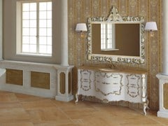 - Lacquered vanity unit with drawers with mirror PANTHEON CM03PH - LA BUSSOLA